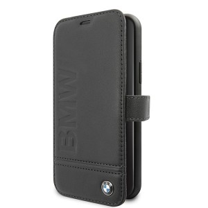 BMW Logo Imprint Ledertasche iPhone 11