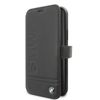 BMW Logo Imprint Ledertasche iPhone 11 Pro Max