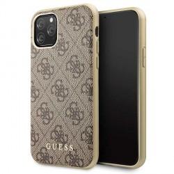 Guess Charms 4G Schutzhülle iPhone 11 Pro Max Braun