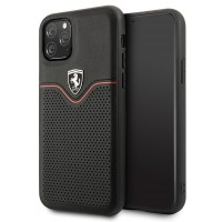 Ferrari Off Track Echtleder Hard Case iPhone 11 Pro Schwarz