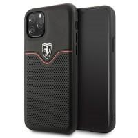 Ferrari Off Track Echtleder Hard Case iPhone 11 Schwarz