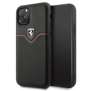 Ferrari Off Track Echtleder Hard Case iPhone 11 Pro Max Schwarz