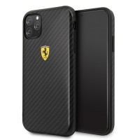 Ferrari Hard Cover On Track iPhone 11 Pro Max Carbon Effect Schwarz