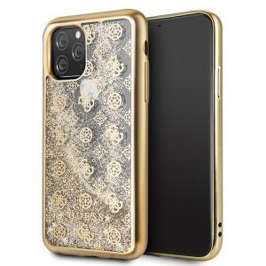 Guess 4G Peony Liquid Glitter Schutzhülle iPhone 11 Gold