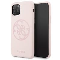 Guess 4G Silicon Collection Print Logo Schutzhülle iPhone 11 Pro Rose