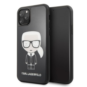 Karl Lagerfeld Iconic Double Layer Schutzhülle iPhone 11 Pro Max Schwarz