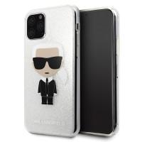 Karl Lagerfeld Iconic Glitter Schutzhülle iPhone 11 Pro Silber