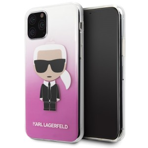 Karl Lagerfeld Iconic Gradient Hülle / Case iPhone 11 Pro Pink