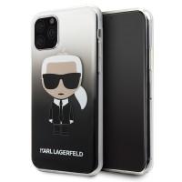 Karl Lagerfeld Iconic Gradient Hülle / Case iPhone 11 Pro Max Schwarz