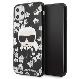 Karl Lagerfeld Flower Schutzhülle iPhone 11 Pro Max Schwarz