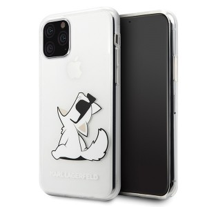 Karl Lagerfeld Choupette Gradient Hülle iPhone 11 Trasnsparent