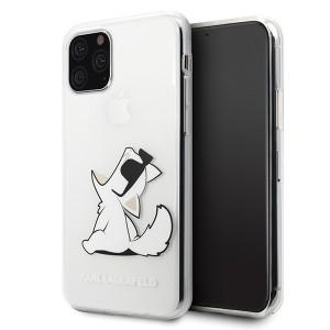 Karl Lagerfeld Choupette Gradient Hülle iPhone 11 Pro Max Transparent KLHCN65CFNRC