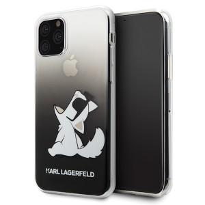 Karl Lagerfeld Choupette Gradient Schutzhülle iPhone 11 Schwarz