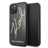 Karl Lagerfeld Double Layer HC Karl Signature Case iPhone 11 Pro Max Schwarz