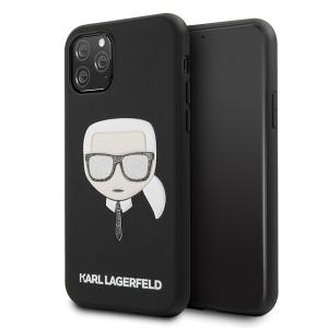 Karl Lagerfeld Iconic Embossed Glitter Hülle iPhone 11 Pro Schwarz KLHCN58DLHBK