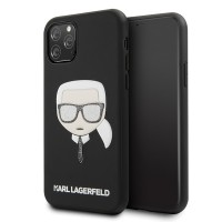 Karl Lagerfeld Iconic Embossed & Glitter Hard Case iPhone 11 Schwarz
