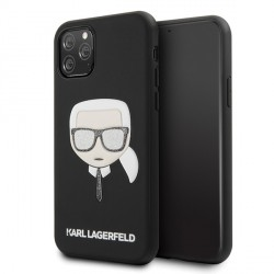 Karl Lagerfeld Iconic Embossed & Glitter Hülle iPhone 11 Pro Max Schwarz