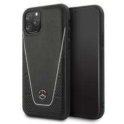 Mercedes Benz Quilted Echtes Leder Case iPhone 11 Pro Max Schwarz