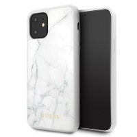 Guess Marble Collection Hülle / Case iPhone 11 Pro Weiß