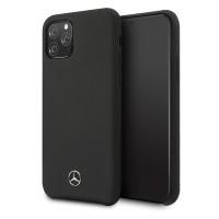 Mercedes Benz Liquid Silikon Hülle / Case iPhone 11 Pro Schwarz