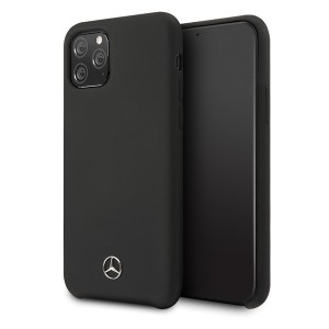 Mercedes Benz Liquid Silikon Hülle / Case iPhone 11 Pro Schwarz