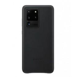 Original Samsung EF-VG988LBEGEU Leder Hülle Galaxy S20 Ultra Schwarz