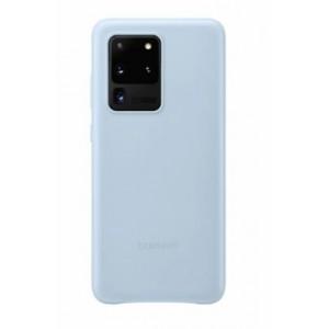 Original Samsung EF-VG988LLEGEU Leder Hülle Galaxy S20 Ultra Himmelblau