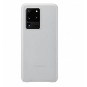 Original Samsung EF-VG988LSEGEU Leder Hülle Galaxy S20 Ultra Hellgrau