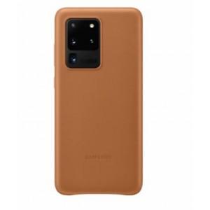 Original Samsung EF-VG988LAEGEU Leder Hülle Galaxy S20 Ultra Braun