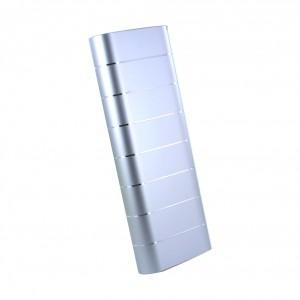 LOVE M.E. Dual USB Charge ME Portable Power Bank Silber 20.000mAh