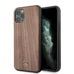 Mercedes Benz Wood Line Walnut Schutzhülle iPhone 11 Braun