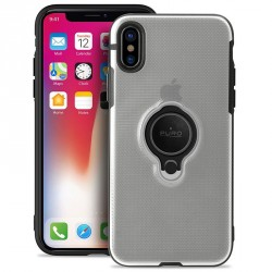 Puro iPhone XS / X Magnet Ring Cover Silikon Case Handyhülle Transparent