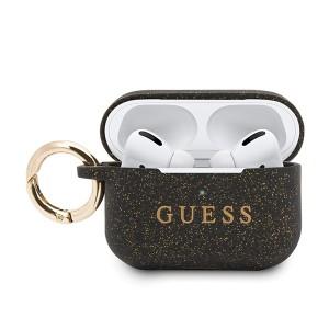 Guess Apple Airpods Pro Silicon Cover Ring Schwarz Schutzhülle Cover Tasche Case
