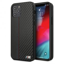 BMW M-Collection Stripe Bi-Material iPhone 12 / 12 Pro 6.1 Carbon Hard Cover Hülle