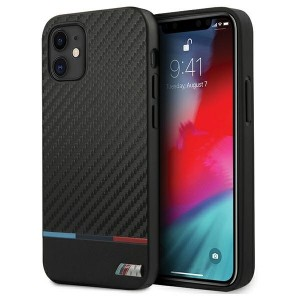 BMW M-Collection Stripe Bi-Material iPhone 12 mini 5.4 Carbon Hard Cover Hülle