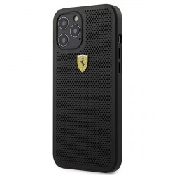 Ferrari iPhone 12 Pro Max 6.7 On Track Perforated Handyhülle Schwarz