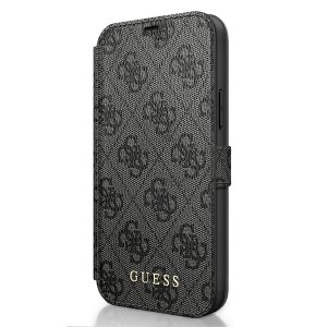Guess 4G Charms iPhone 12 / 12 Pro 6.1 Grau Book Case Tasche