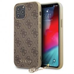 Guess 4G Charms iPhone 12 mini 5.4 Braun Hard Case Hülle Schutzhülle