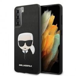 Karl Lagerfeld Samsung Galaxy S21 Embossed Saffiano Hülle Schwarz