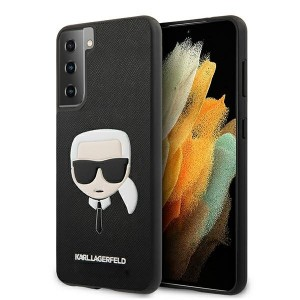 Karl Lagerfeld Samsung Galaxy S21 Ultra Embossed Saffiano Hülle Schwarz