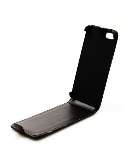 UreParts - Helm Basic - PU Flip Tasche / Hülle / Case - Apple iPhone 5se, 5s, 5 - Schwarz