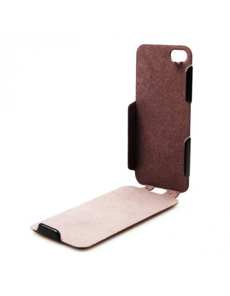 UreParts - Helm One - PU Flip Tasche / Hülle / Case - Apple iPhone 5se, 5s, 5 - Schwarz
