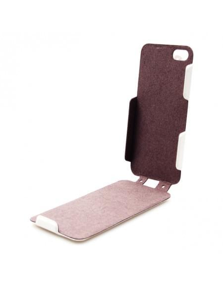 UreParts - Helm One - PU Flip Tasche / Hülle  Case - Apple iPhone 5se, 5s, 5 - Weiß