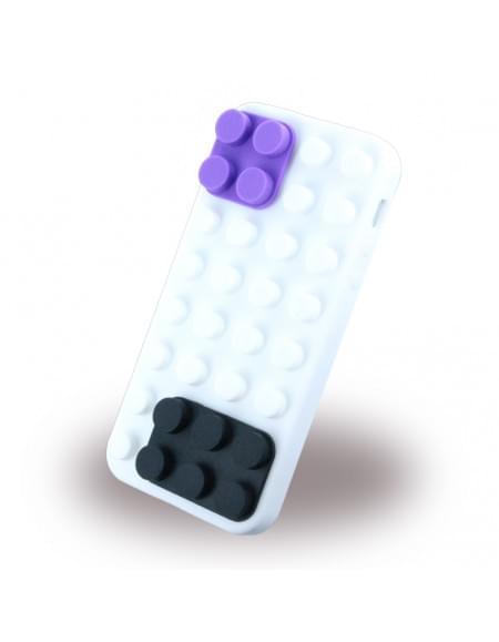 Konkis - Lodos Block - Soft Silikon Cover / Case / Schutzhülle - Apple iPhone 5se,5s,5 - Weiß