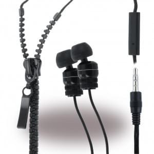 Leste Zipper - Stereo Headset - 3,5mm Anschluss - Schwarz