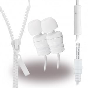 Leste Zipper - Stereo Headset - 3,5mm Anschluss - Weiß