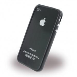 UreParts - Lips Basic - TPU Bumper / Schutzhülle für Apple iPhone 4, 4S,  - Schwarz