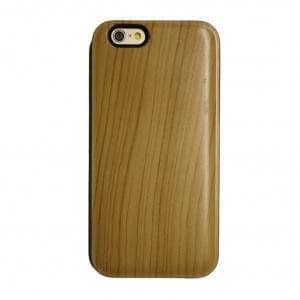 UreParts - Hart Cover / Case / Schutzhülle Holz - Apple iPhone 6 - Hell Braun