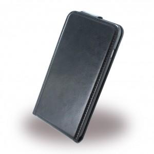 UreParts - Flip Ledertasche / Hülle / Case - Apple iPhone 6 Plus, 6s Plus - Schwarz
