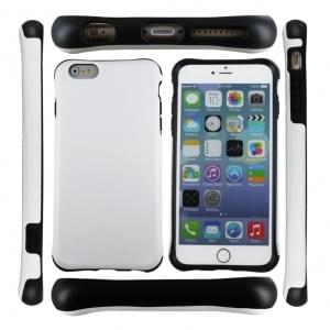 UreParts Shockproof - Hard Cover / Case / Schutzhülle - Apple iPhone 6 Plus, 6s Plus - Schwarz / Weiss